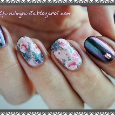 Dusted roses nail art by ELIZA OK-W