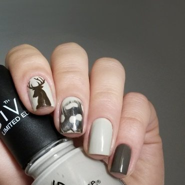 Sepia tones nail art by marina