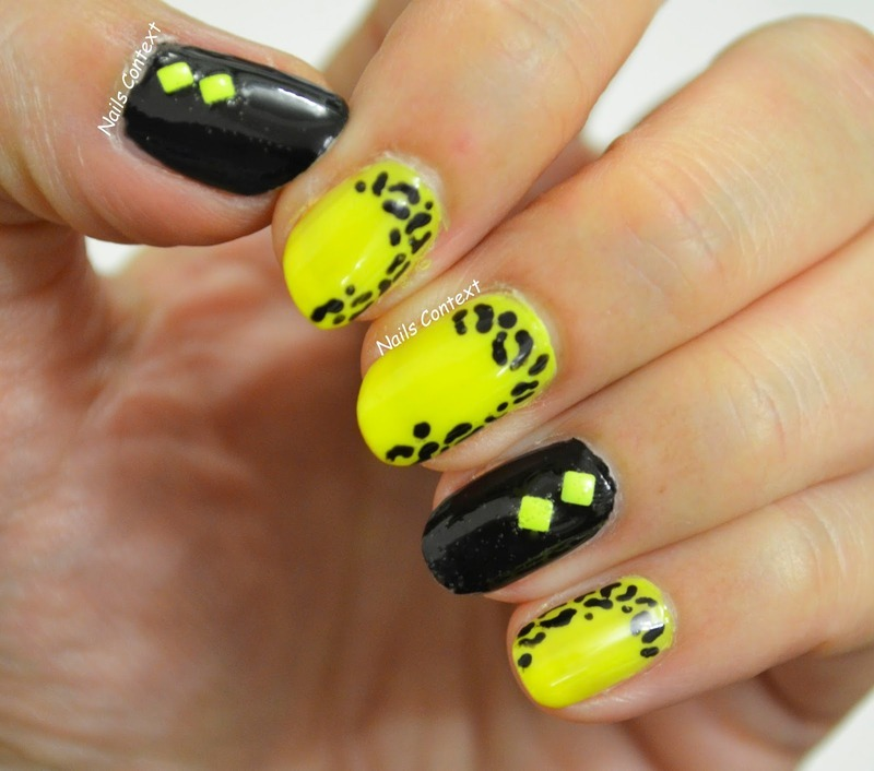 Neon Leopard Print Nails nail art by NailsContext