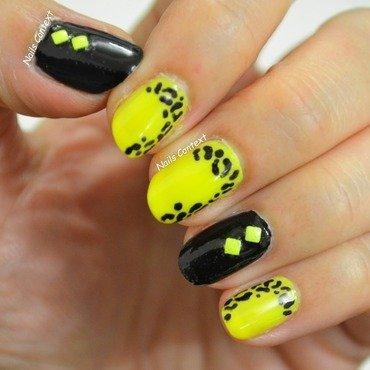Neon Leopard Print Nails nail art by NailsContext