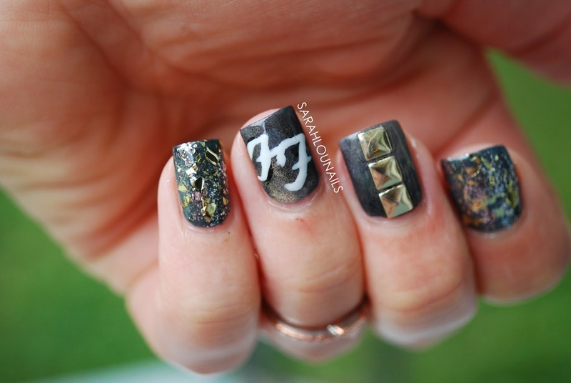 Foo Fighter's Nails! nail art by Sarah S