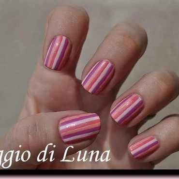 Summer stripes manicure nail art by Tanja