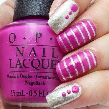 Tape Mani nail art by Beauty Intact