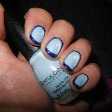 Blue Cartoon Nails nail art by Cecilia Brown