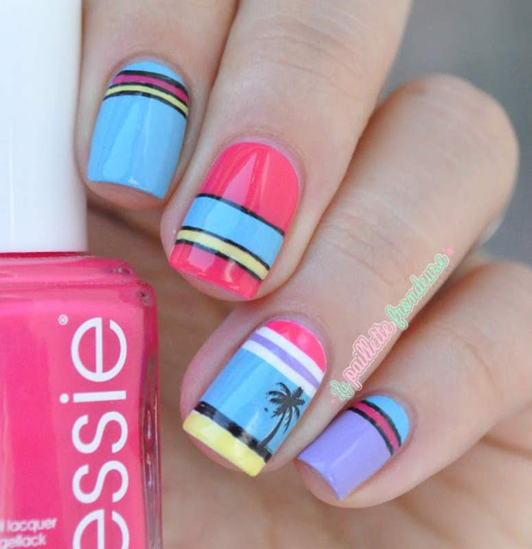 summer never die nail art by nathalie lapaillettefrondeuse
