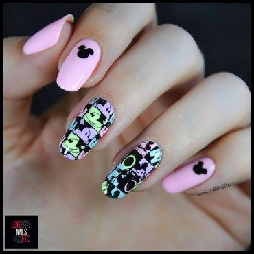 Mickey Mouse nail art by Love Nails Etc