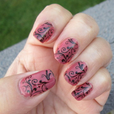 Simple Stamping nail art by HELEN KAY