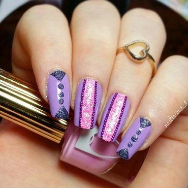 Pink Glitter nail art by nailicious_1