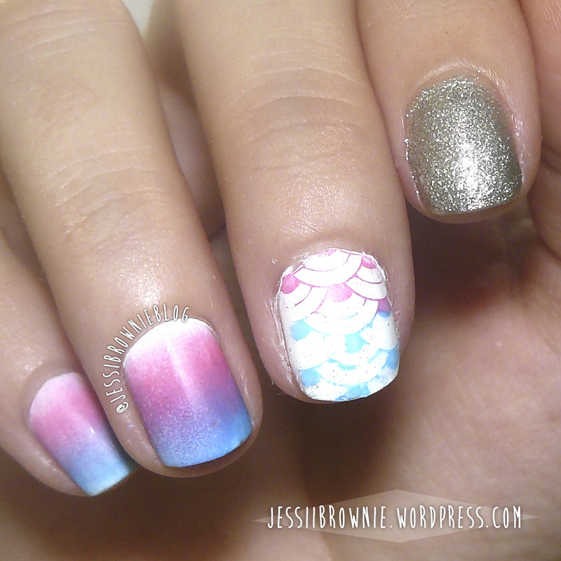 Sunset nail art by Jessi Brownie (Jessi)