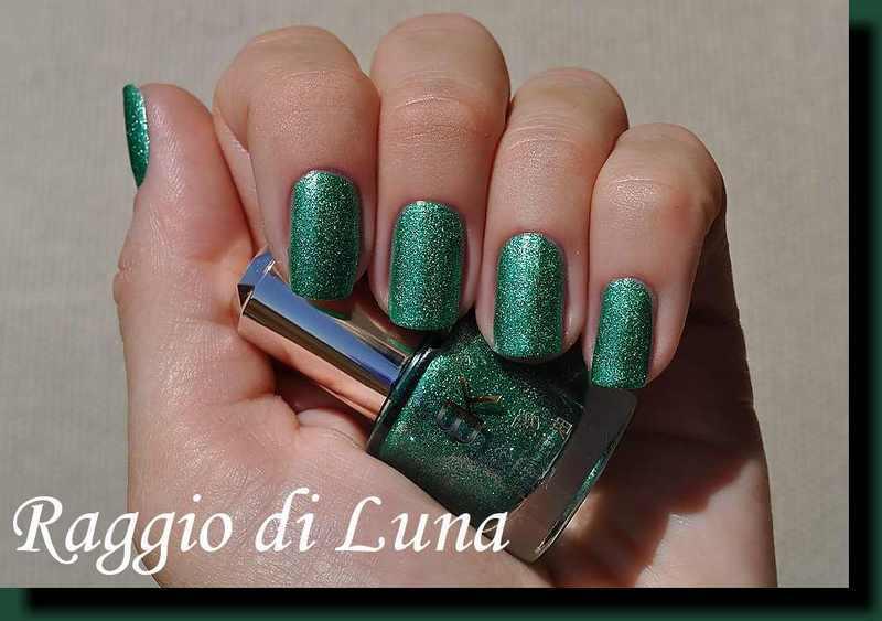 BK Glitter Shimmer Crystal Sand nail polish n° 05 Green Swatch by Tanja
