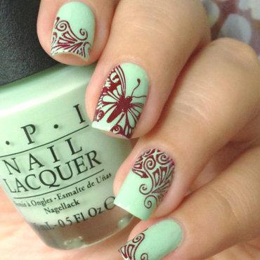 Butterfly Nails nail art by Natasha