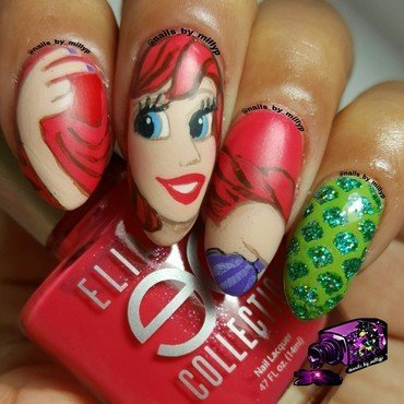 Part of your world nail art by Milly Palma