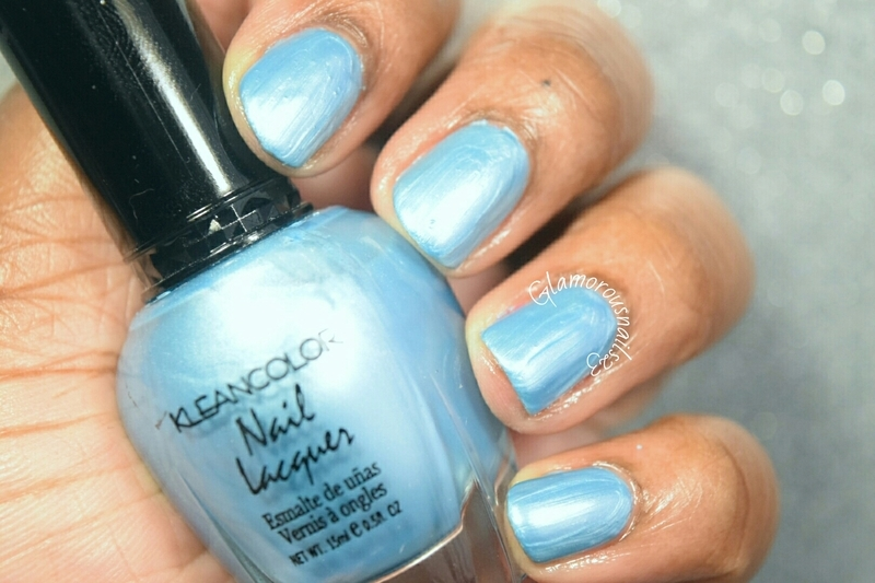 Kleancolor Blue Pearl Swatch by glamorousnails23