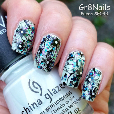 Pueen SE04B nail art by Gr8Nails