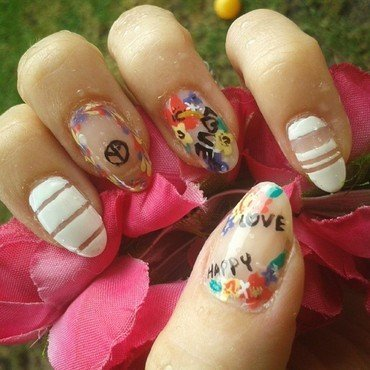 BOHO nails nail art by Km.Lucy