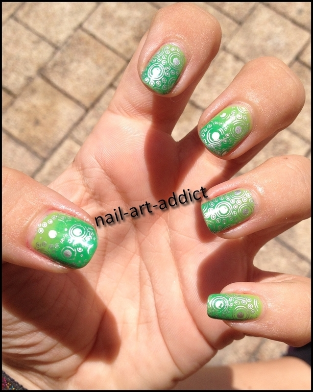 Nail Art : Dégradé et Stamping nail art by SowNails
