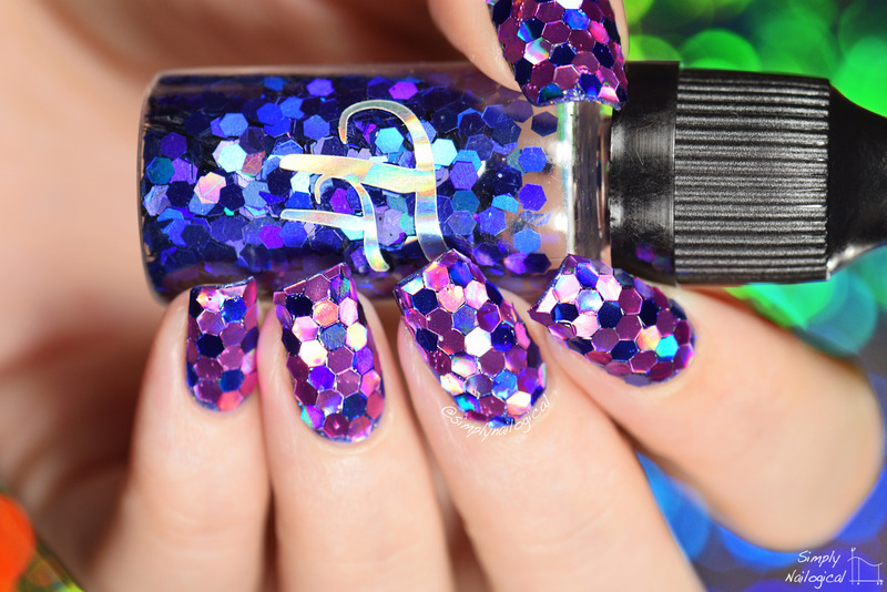 Large Holo Glitter Placement Nail Art By Simplynailogical Nailpolis Museum Of Nail Art
