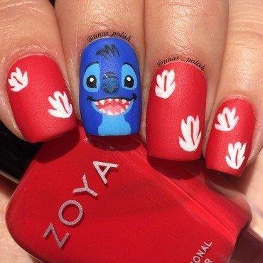 Stitch!!  nail art by Christina