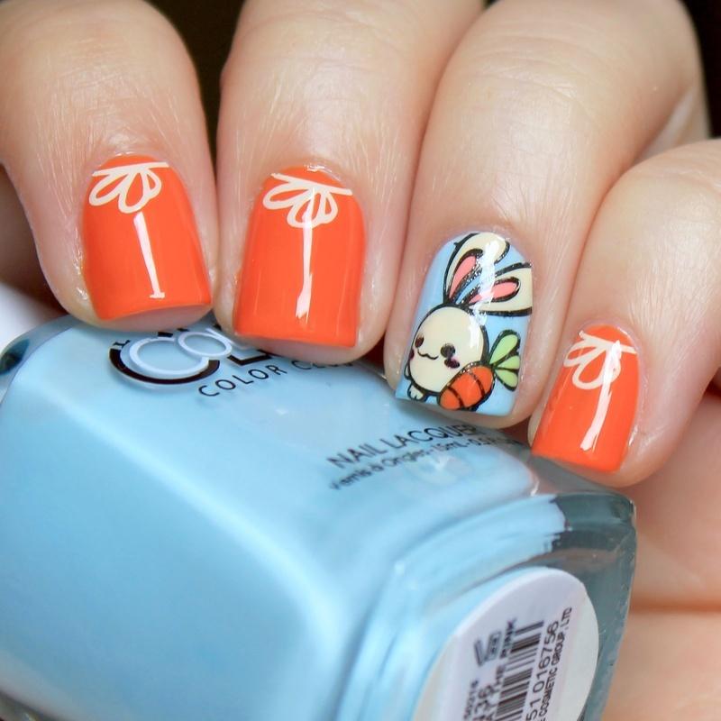 Bunny nails nail art by Moriesnailart