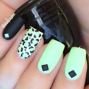 Matte leopard Print nail art by Melissa