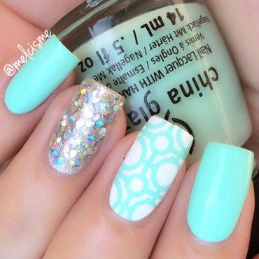 Tile pattern nail art by Melissa