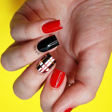 A little bit of check nail art by Natalie Grech