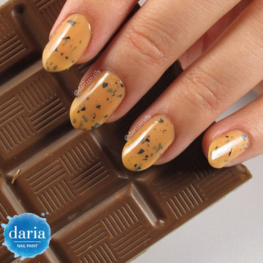 daria NAIL PAINT Crème-Brulé with Chocolate Swatch by Daria B.