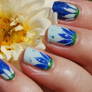 lilypad flower for the PP quaterly nail art by Dorothy NailAssay