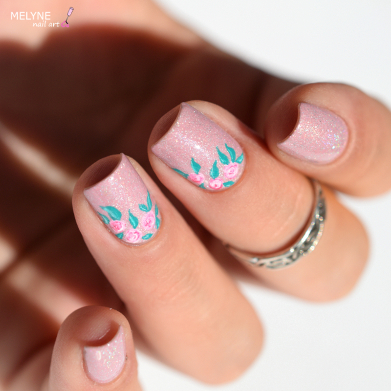 Floral nails nail art by melyne nailart