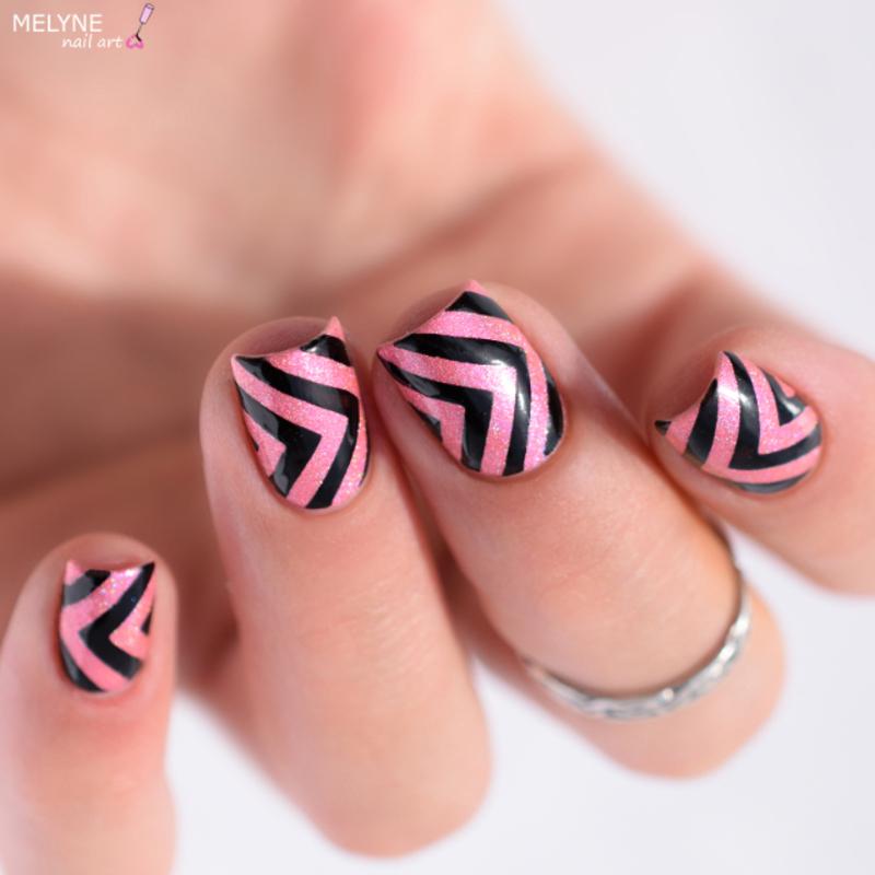 geometric nails nail art by melyne nailart