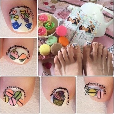 Sweet Toes Contents  nail art by Workoutqueen123
