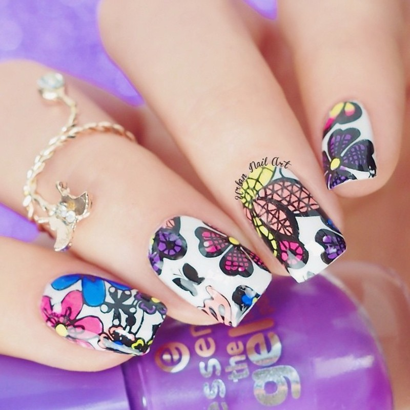 Unghiutze colorate-Happy nails | Nails, Nail stamper, Nail art