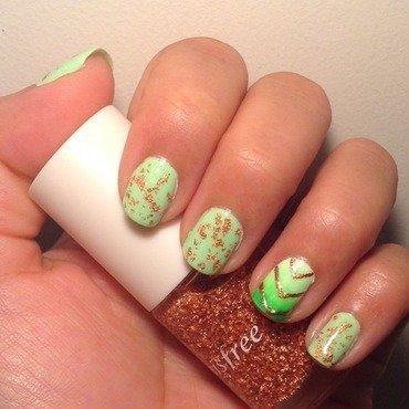 Honeydew Glamorous  nail art by Idreaminpolish