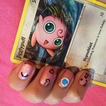 Jigglypuff inspired nail art nail art by NailsByEms
