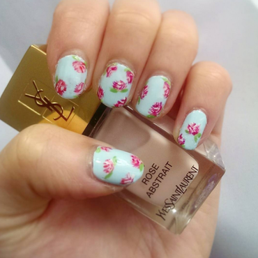 Spring Florals nail art by Erica