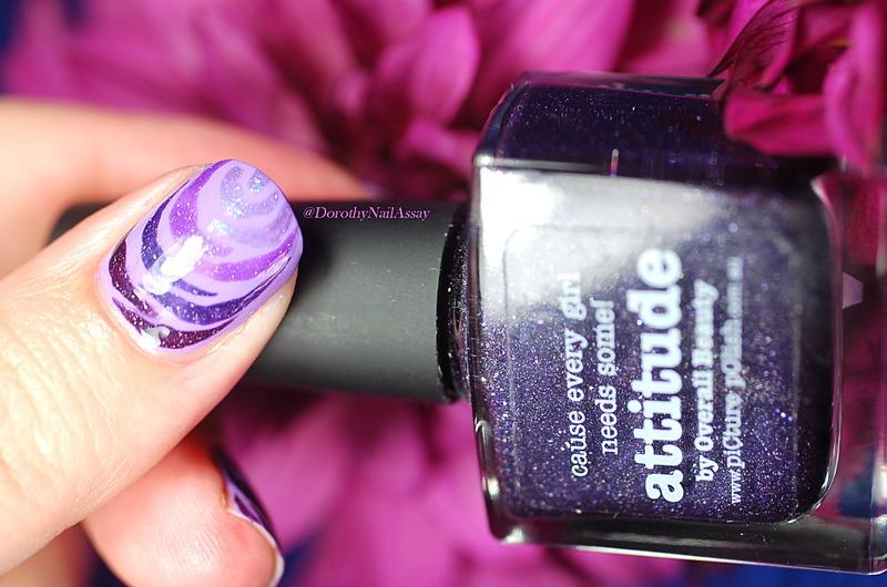purple Rose nail art by Dorothy NailAssay