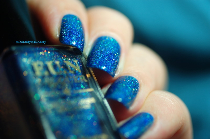Fun Lacquer Blue Tears Swatch by Dorothy NailAssay
