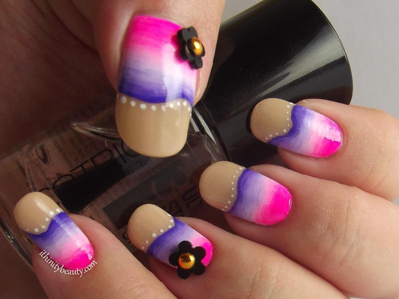 Pinky Purple Waves - Acrylic Gradient nail art by Ithfifi Williams