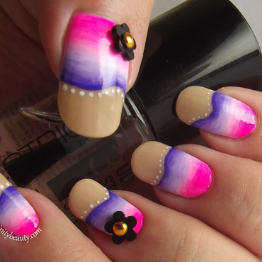 Pinky Purple Waves - Acrylic Gradient nail art by Ithfifi Williams