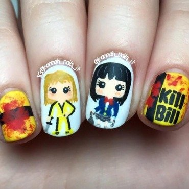 Kill Bill nail art by Hannah