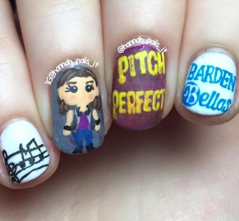 Pitch Perfect nail art by Hannah