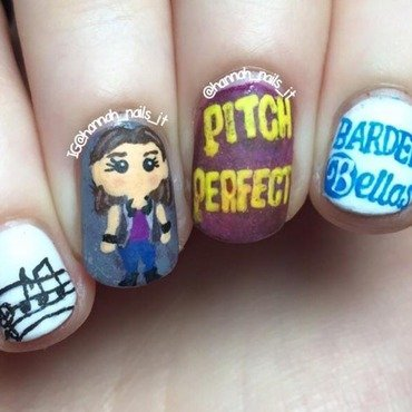 Pitch Perfect nail art by Hannah