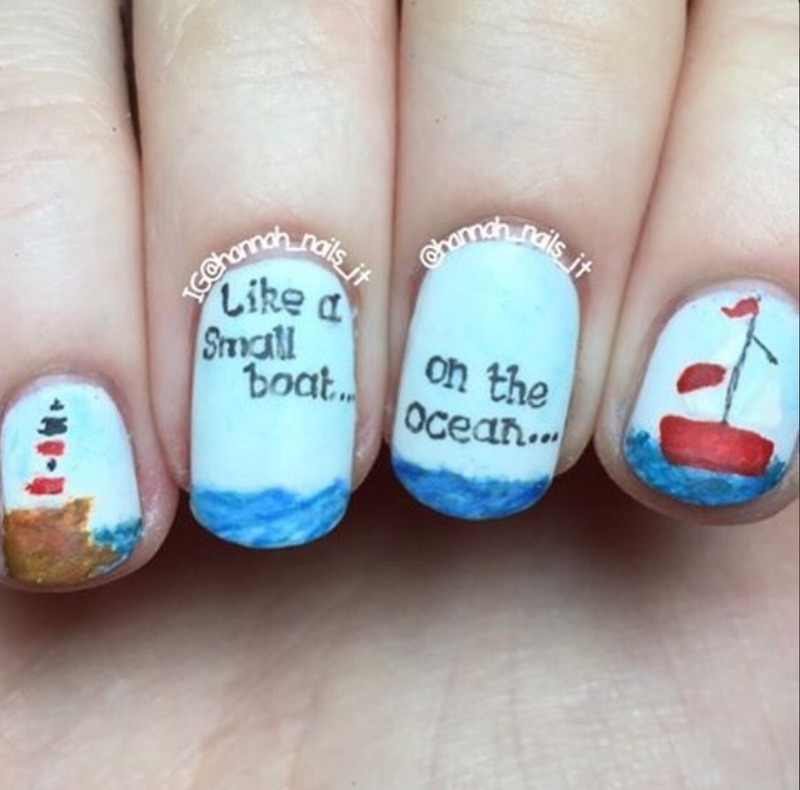This Is My Fight Song nail art by Hannah