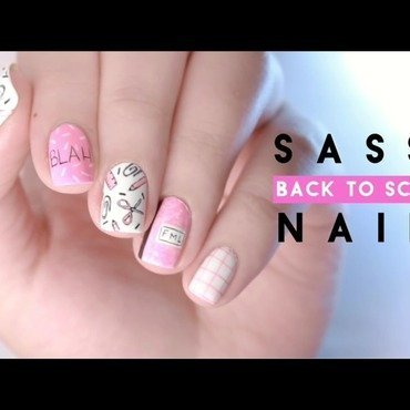 Sassy back to school nails  nail art by Jess_nails_it