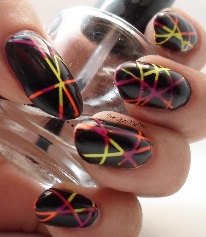 Laser Mani nail art by Free_Spirit_Nail_Art