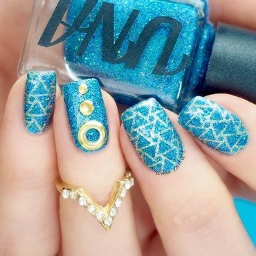 'Abstract Geometry' Nails nail art by Lou