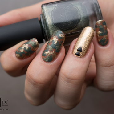 Army nails nail art by Kate C.