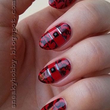 Creative Red nail art by Mgielka M