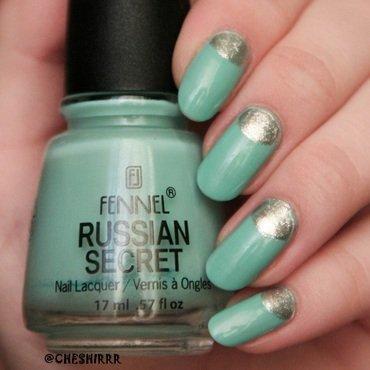mint nail art by cheshirrr