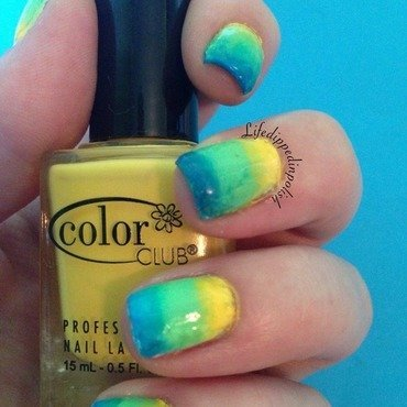 Summer Gradient  nail art by lifedippedinpolish